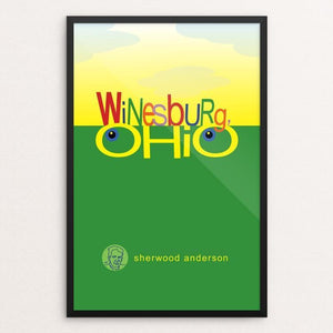 "Winesburg. Ohio by Robert Wallman 12"" by 18"" Print / Framed Print Recovering the Classics"