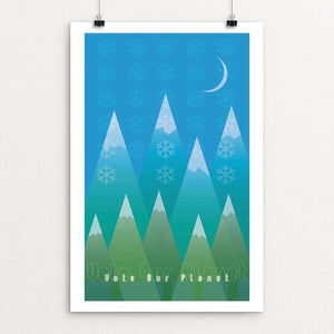 "Winter in the Mountains by Jon Briggs 12"" by 18"" Print / Unframed Print Vote Our Planet"