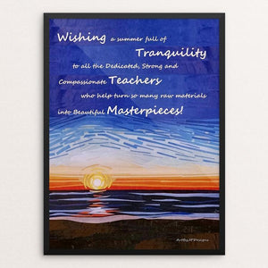 "Wishes for Tranquility by JP Designs 12"" by 16"" Print / Framed Print Creative Action Network"