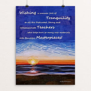 "Wishes for Tranquility by JP Designs 12"" by 16"" Print / Unframed Print Creative Action Network"