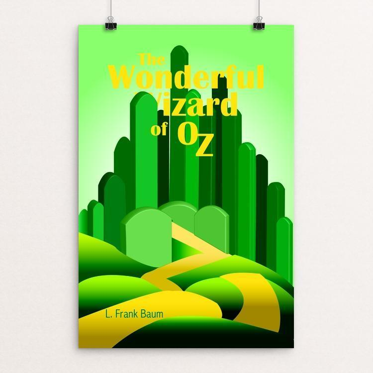 "Wizard of Oz 1 by Julie Jirovec 12"" by 18"" Print / Unframed Print Recovering the Classics"