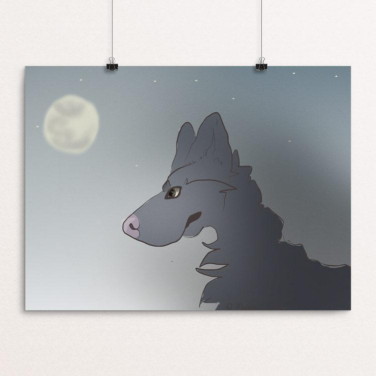 "Wolf by Madisyn Simmons 12"" by 16"" Print / Unframed Print Join the Pack"