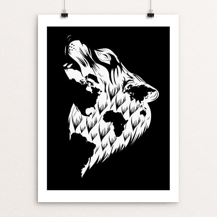 "Wolf by Ygor Nizyck 12"" by 16"" Print / Unframed Print Join the Pack"