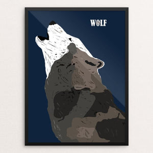 "Wolf Cry by Bryan Bromstrup 18"" by 24"" Print / Framed Print Join the Pack"