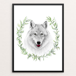 "Wolf Goddess by Brett Blumenthal 12"" by 16"" Print / Framed Print Join the Pack"