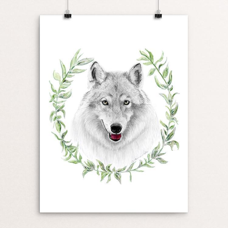 "Wolf Goddess by Brett Blumenthal 12"" by 16"" Print / Unframed Print Join the Pack"