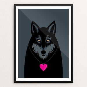 "Wolf Love by Luis Prado 18"" by 24"" Print / Framed Print Join the Pack"