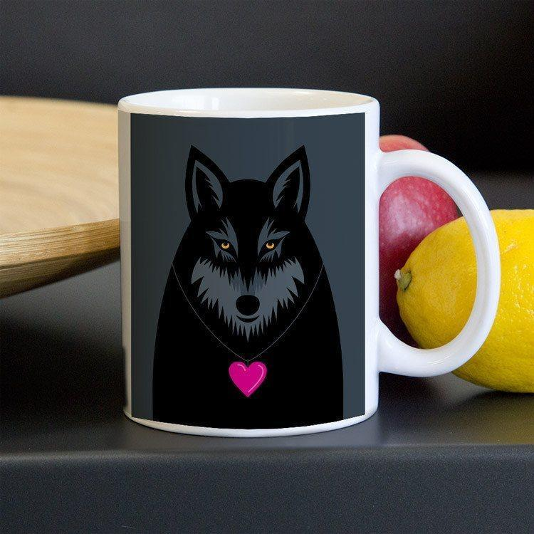 Wolf Love Mug by Luis Prado