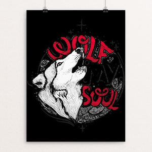 "Wolf My Soul by Natalia Galindo Castaneda 12"" by 16"" Print / Unframed Print Join the Pack"