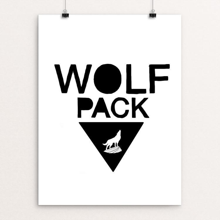 "Wolf Pack by Orion Pahl 18"" by 24"" Print / Unframed Print Join the Pack"