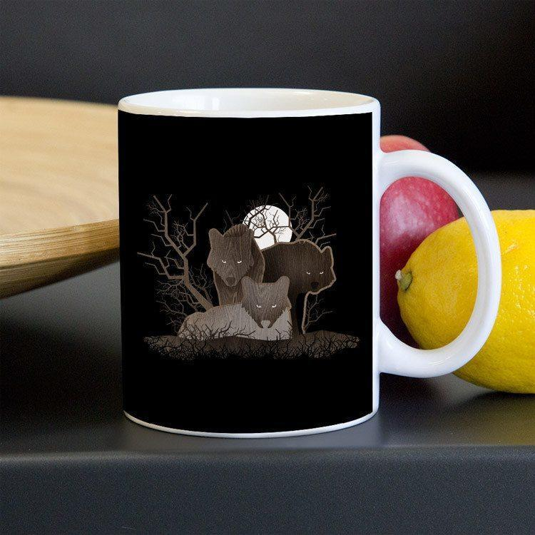 Wolf Pack Mug by Matt Brass - Mug - Join the Pack - Creative Action Network
