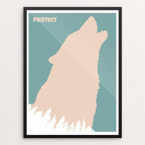"Wolf Poster by Mark Forton 18"" by 24"" Print / Framed Print Join the Pack"