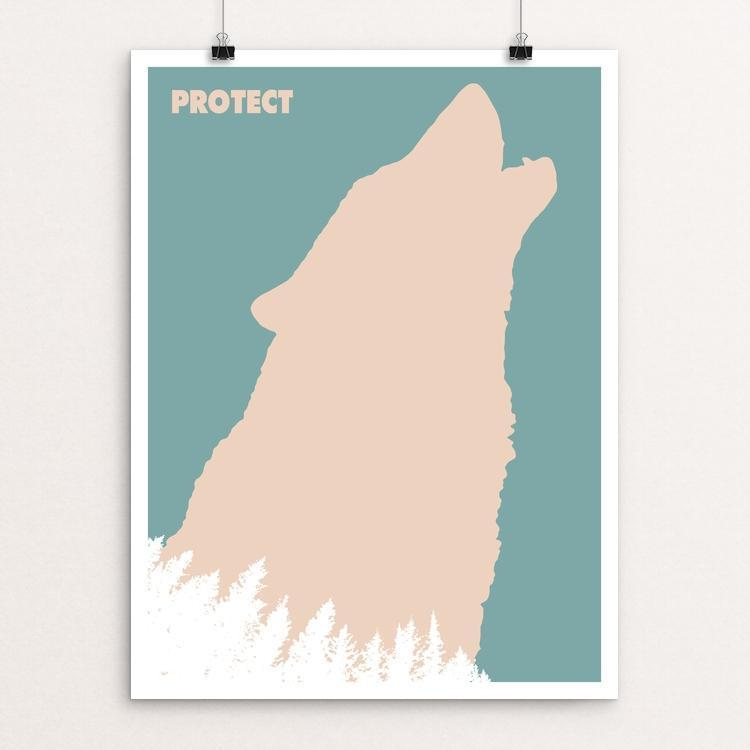 Wolf Poster by Mark Forton
