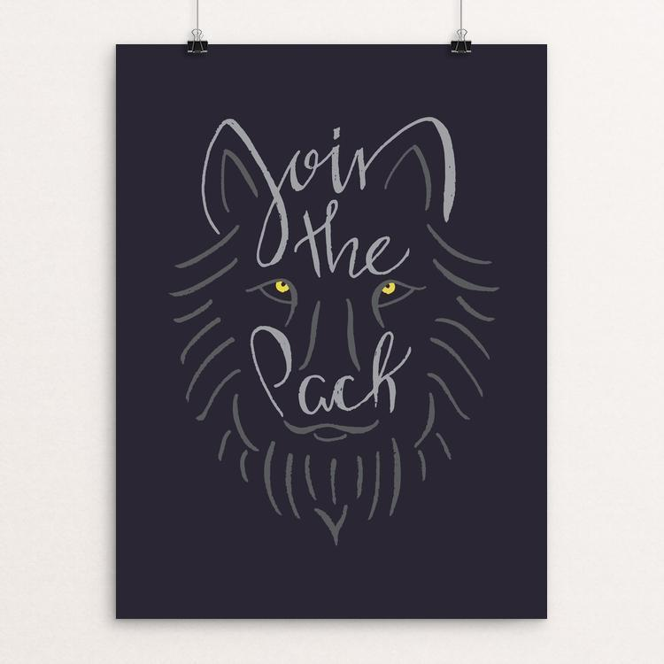"Wolf Scribbles by Kailee McMurran, Design by Goats 12"" by 16"" Print / Unframed Print Join the Pack"