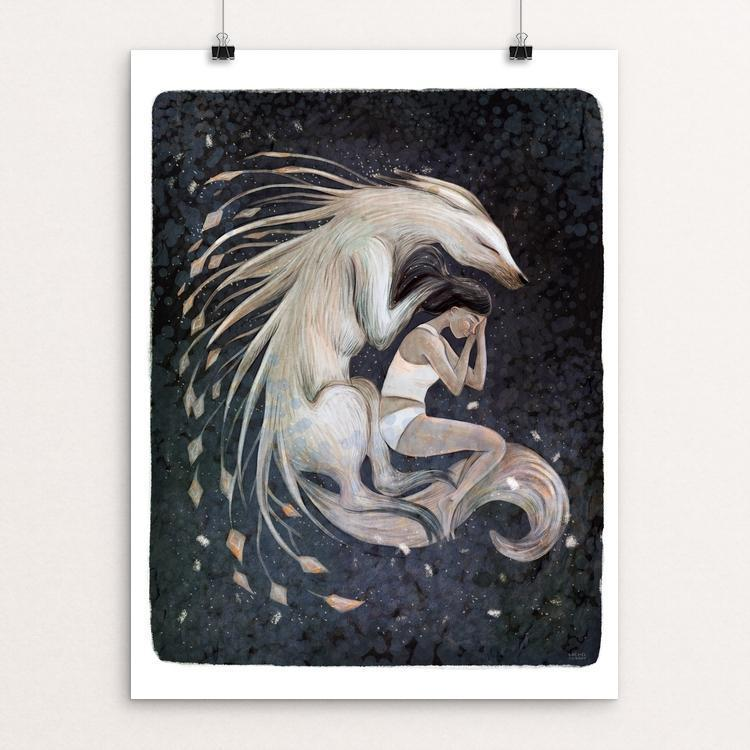 "Wolf Sleep by Rachel Tribout 12"" by 16"" Print / Unframed Print Join the Pack"