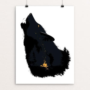 "Wolf Spirit Chant by Grigoras Alex 12"" by 16"" Print / Unframed Print Join the Pack"