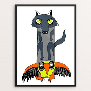 "Wolf Totem by Lexi Coburn 18"" by 24"" Print / Framed Print Join the Pack"
