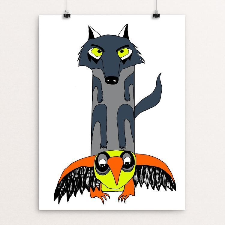 "Wolf Totem by Lexi Coburn 18"" by 24"" Print / Unframed Print Join the Pack"