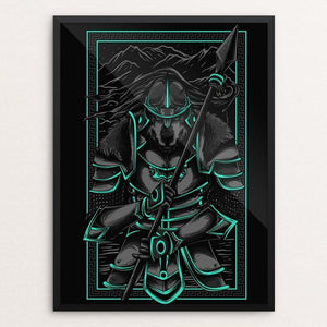 "Wolf Warrior by Deka Gumilar 12"" by 16"" Print / Framed Print Join the Pack"