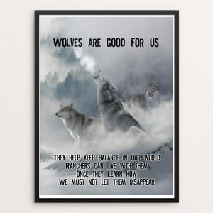 "Wolves are Good for Us by Harley Armentrout 12"" by 16"" Print / Framed Print Join the Pack"