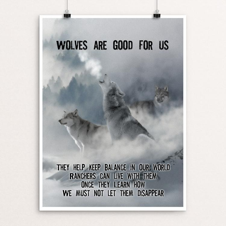 "Wolves are Good for Us by Harley Armentrout 12"" by 16"" Print / Unframed Print Join the Pack"