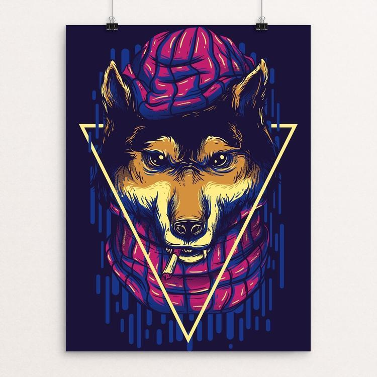 "Wolves by Deka Gumilar 12"" by 16"" Print / Unframed Print Join the Pack"