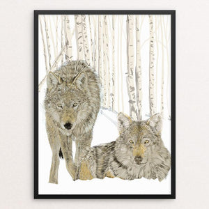 "Wolves by Lyla Paakkanen 18"" by 24"" Print / Framed Print Join the Pack"