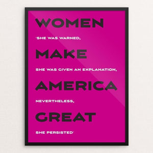 "Women by Darren Krische 12"" by 16"" Print / Framed Print What Makes America Great"