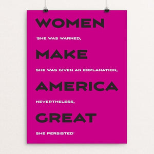 "Women by Darren Krische 12"" by 16"" Print / Unframed Print What Makes America Great"