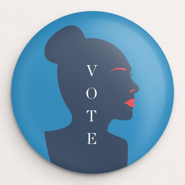 Women Vote Button by Brandon Kish
