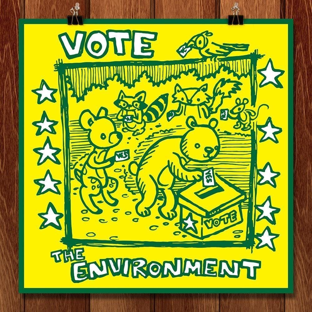 Woodland Creatures Vote The Environment by Matthew Knapik