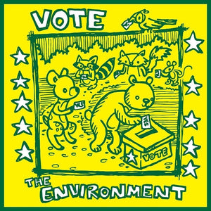 "Woodland Creatures Vote The Environment by Matthew Knapik 12"" by 12"" Print / Unframed Print Vote the Environment"