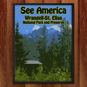 "Wrangell–St. Elias National Park and Preserve by Eitan S. Kaplan 12"" by 16"" Print / Framed Print See America"