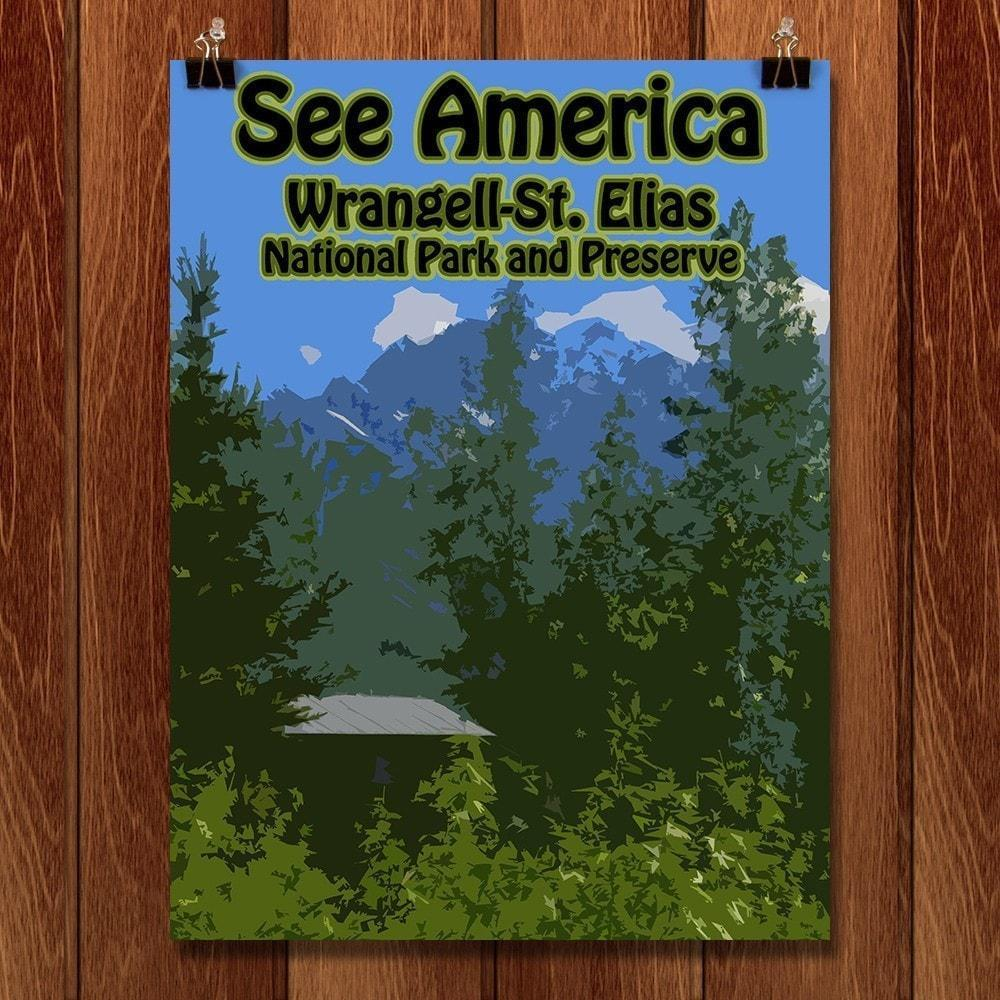 "Wrangell‰ÛÒSt. Elias National Park and Preserve by Eitan S. Kaplan 12"" by 16"" Print / Unframed Print See America"