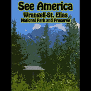 "Wrangell–St. Elias National Park and Preserve by Eitan S. Kaplan 12"" by 16"" Print / Unframed Print See America"