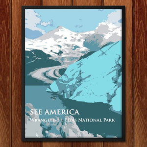 "Wrangell-St. Elias National Park by Dan Luo 12"" by 16"" Print / Framed Print See America"