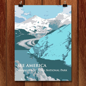 "Wrangell-St. Elias National Park by Dan Luo 12"" by 16"" Print / Unframed Print See America"