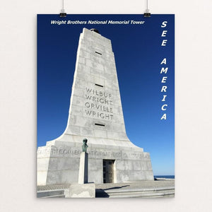 "Wright Brothers National Memorial 1 by Bryan Bromstrup 12"" by 16"" Print / Unframed Print See America"