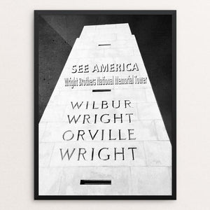 "Wright Brothers National Memorial 2 by Bryan Bromstrup 12"" by 16"" Print / Framed Print See America"