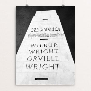 "Wright Brothers National Memorial 2 by Bryan Bromstrup 12"" by 16"" Print / Unframed Print See America"