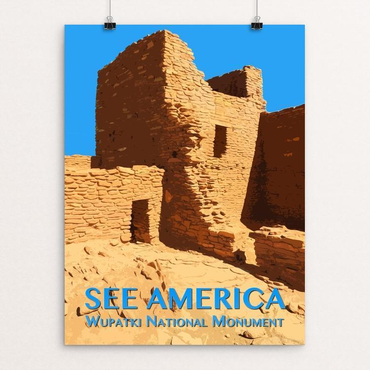 "Wupatki National Monument by Zack Frank 12"" by 16"" Print / Unframed Print See America"