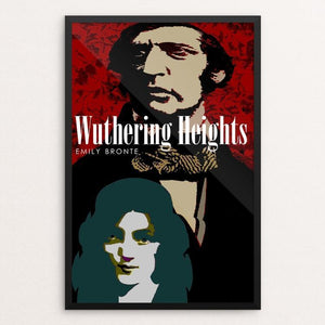 "Wuthering Heights by BOB RUBIN 12"" by 18"" Print / Framed Print Recovering the Classics"