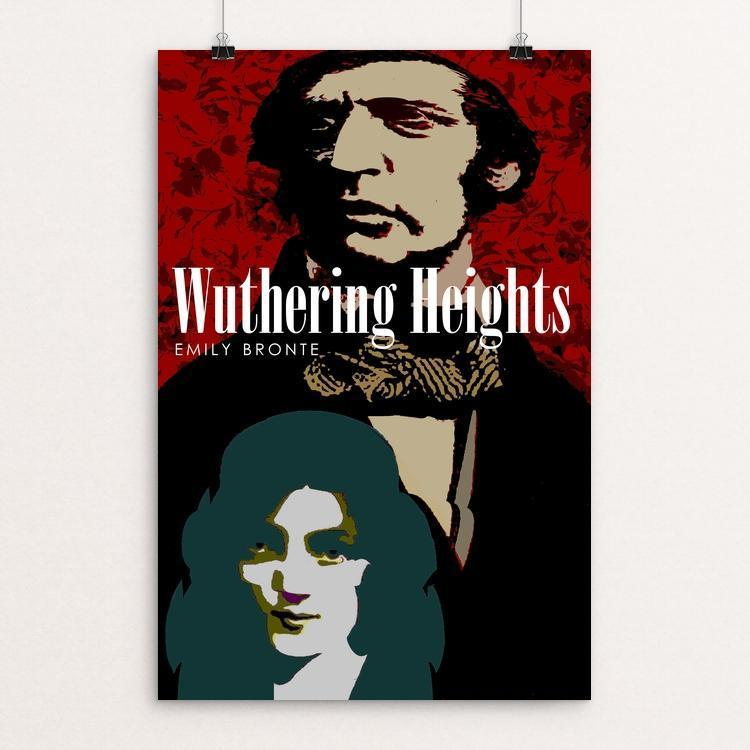 "Wuthering Heights by BOB RUBIN 12"" by 18"" Print / Unframed Print Recovering the Classics"