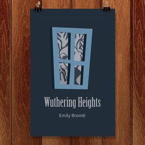 "Wuthering Heights by Diana Barron 12"" by 18"" Print / Unframed Print Recovering the Classics"