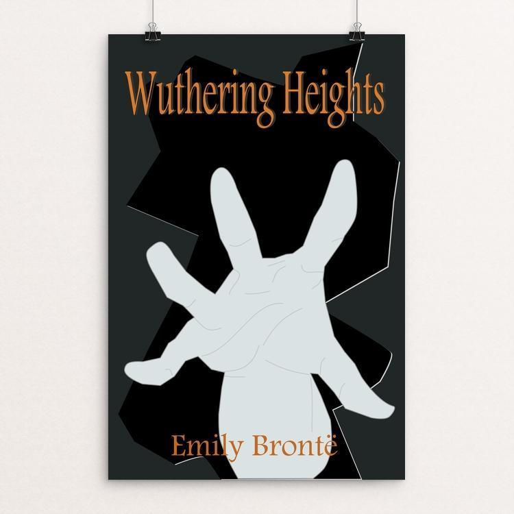 "Wuthering Heights by Meredith Watson 12"" by 18"" Print / Unframed Print Recovering the Classics"