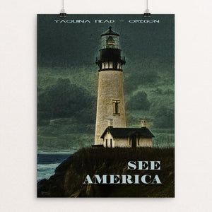 "Yaquina Head, Oregon by Sheri Emerson 12"" by 16"" Print / Unframed Print See America"
