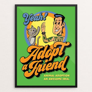 "Yeah My Cat My Friend by Roberlan Paresqui 12"" by 16"" Print / Framed Print Creative Action Network"