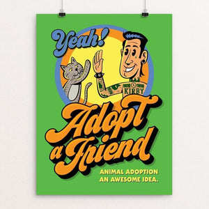 "Yeah My Cat My Friend by Roberlan Paresqui 12"" by 16"" Print / Unframed Print Creative Action Network"