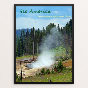 "Yellowstone National Park 2 by Anthony Chiffolo 12"" by 16"" Print / Framed Print See America"