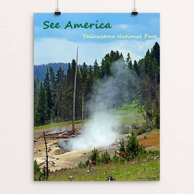 "Yellowstone National Park 2 by Anthony Chiffolo 12"" by 16"" Print / Unframed Print See America"